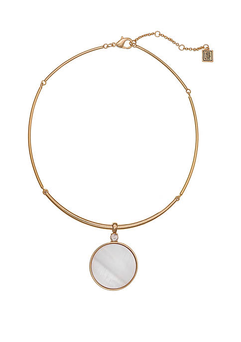 Laundry by Shelli Segal Gold Tone Coil Necklace