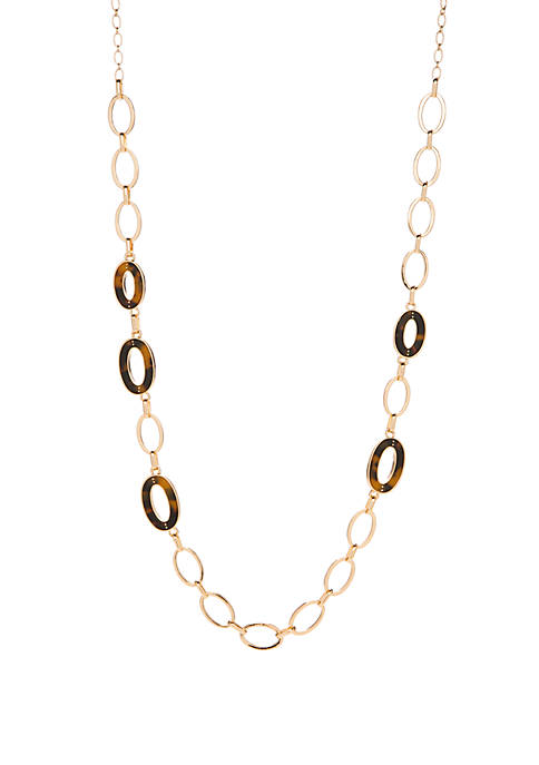 Laundry by Shelli Segal Oval Link Necklace