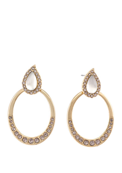 Laundry by Shelli Segal Gold Tone Teardrop Earrings