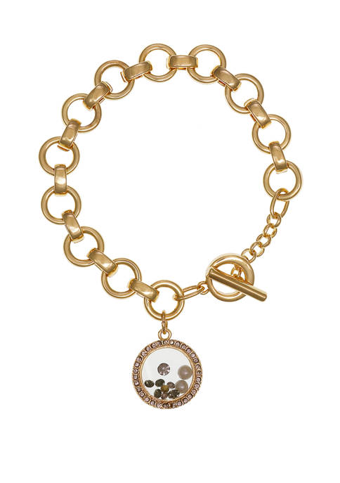 Laundry by Shelli Segal Gold Tone Chain Toggle