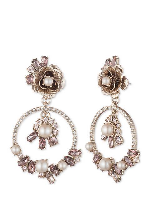 Marchesa Gold-Tone Orbital Drop Earrings