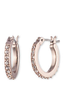 Rose Gold-Tone Small Click Top Earrings