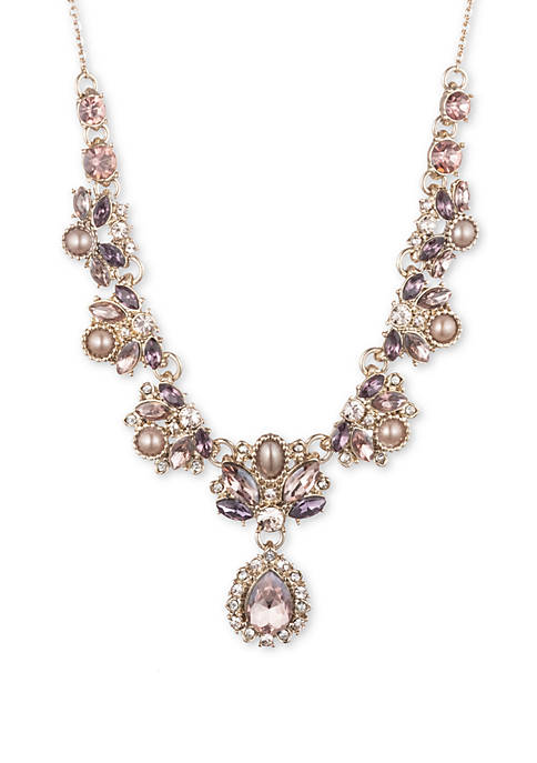 Marchesa Gold Tone Wishing Well Pink and Purple