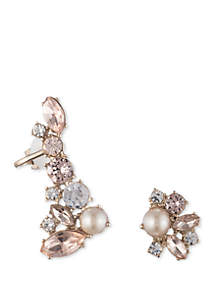 Marchesa Mismatch Blush Crawler Earrings