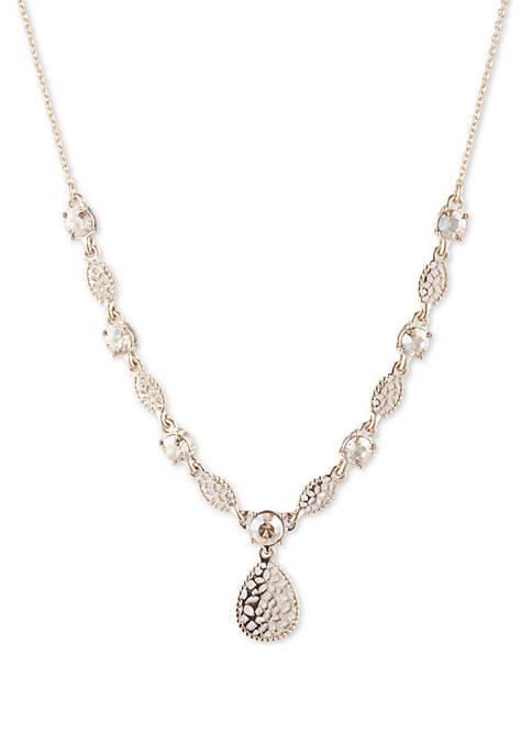 Marchesa Gold Tone Filigree Y Necklace