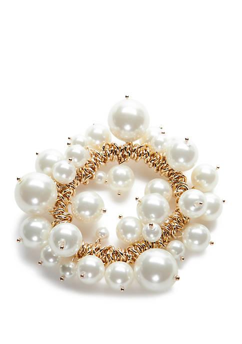 Crown & Ivy™ Stretch Shaky Cluster Bracelet