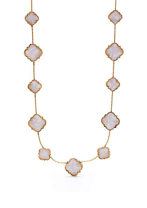 Collar Quatrefoil Necklace