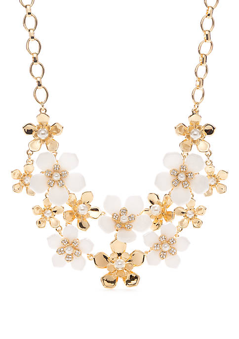 2 Row Flower Frontal Necklace