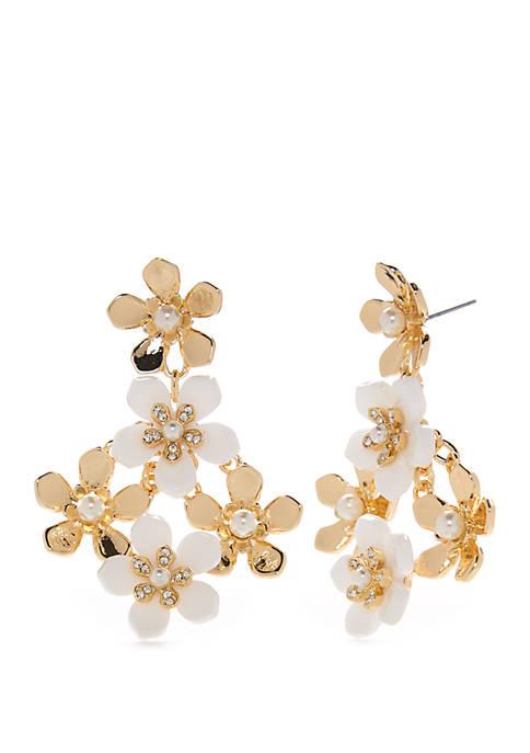 Crown & Ivy™ Gold Tone Post Flower Chandelier