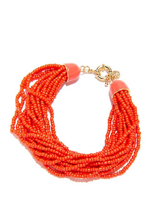 Beaded Multi Row Bracelet