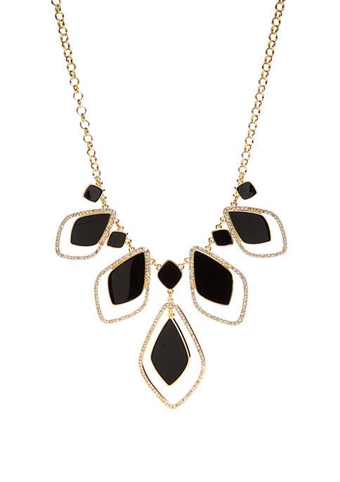 Quatrefoil Frontal Necklace