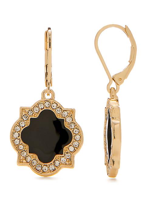 Crown & Ivy™ Quatrefoil Drop Earrings