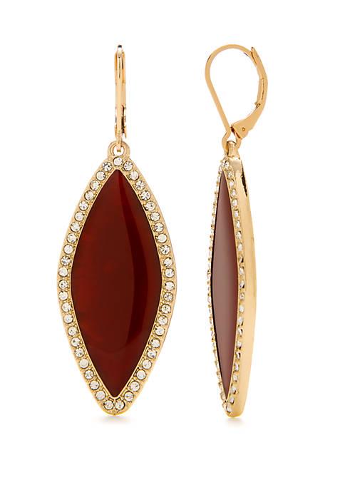 Crown & Ivy™ Gold Tone Drop Earrings
