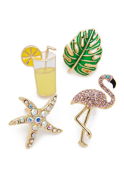 Crown & Ivy™ Gold Tone Summer Pin Set