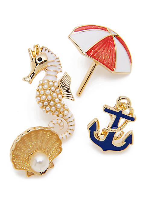 Crown & Ivy™ 4 Piece Beach Theme Pin