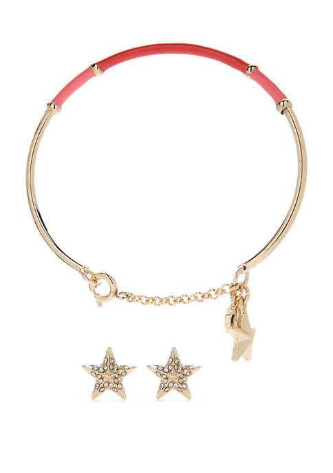Crown & Ivy™ Boxed Starfish Earrings and Bangle
