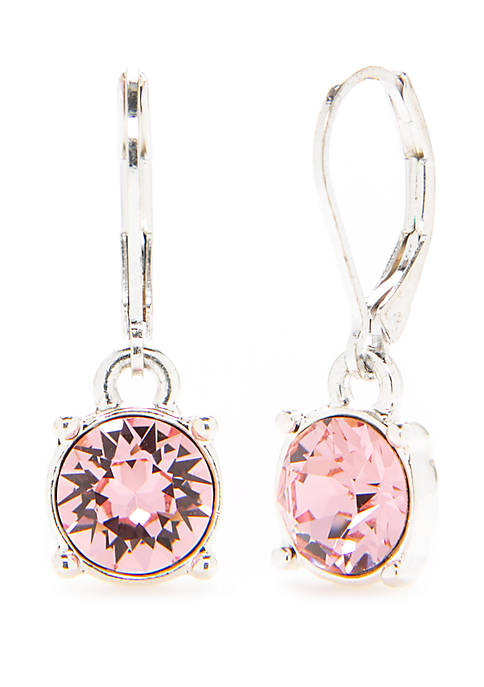 Crown & Ivy™ Lever Back Swarovski® Drop Earrings