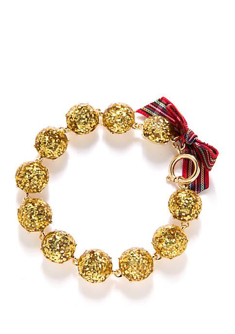 Crown & Ivy™ Boxed Gold Tone Glitter Flex