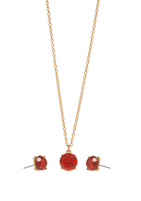 Crown & Ivy™ Boxed Gold Tone Pendant Necklace