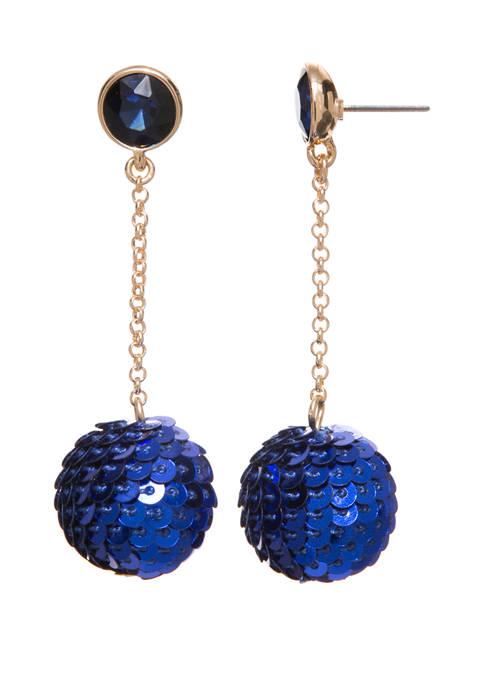 Sequin Chain Drop Earrings
