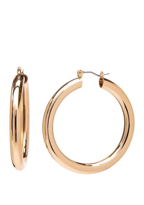 Crown & Ivy™ Click Top Hollow Tubular Gold