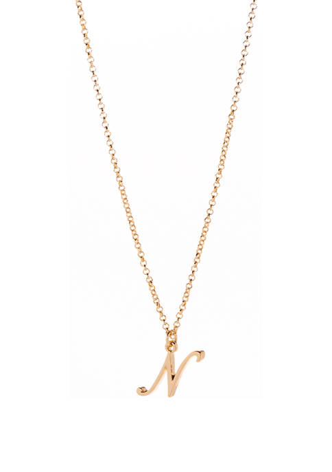 16 Inch Initial Pendant Necklace