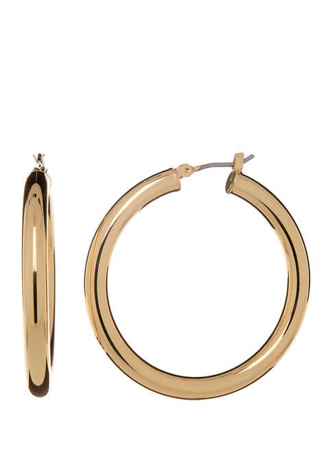 Crown & Ivy™ Gold Tone Medium Tubular Click