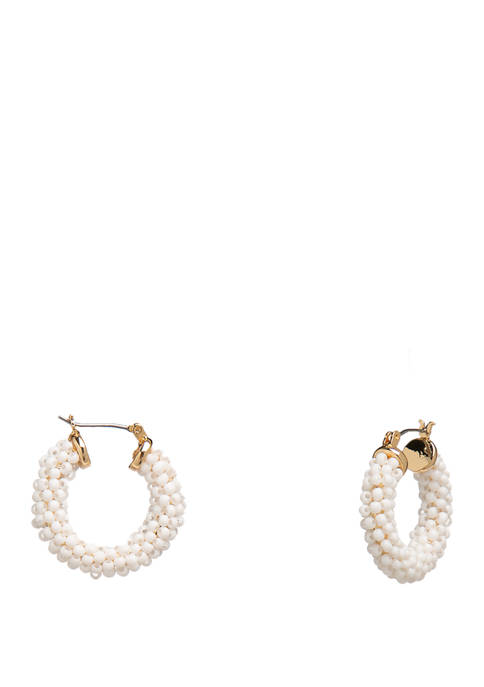 Crown & Ivy™ Gold Tone Small Beaded Click
