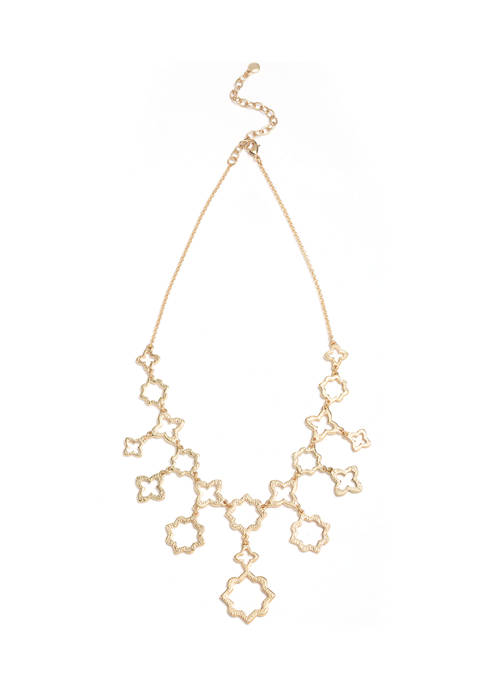 Crown & Ivy™ 16 Inch Open Bib Necklace