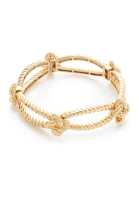 Crown & Ivy™ Stretch Knot Link Bracelet