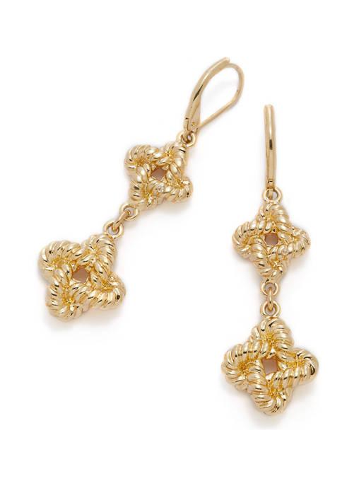 Double Drop Knot Earrings