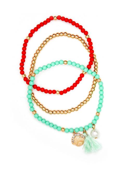 Crown & Ivy™ Boxed Gold Tone Mint Bracelet
