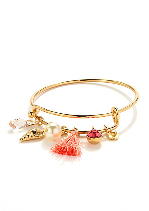 Crown & Ivy™ Boxed Gold Tone Bangle Bracelet