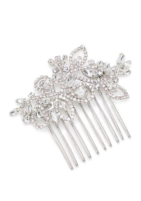 Silver Tone Leaves Hair Pin