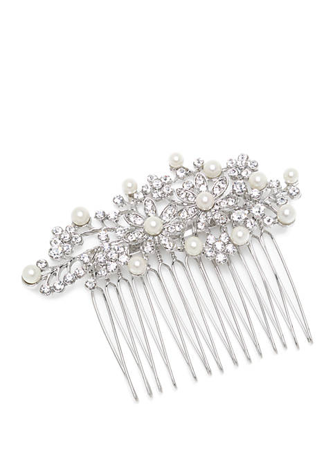 Crown & Ivy™ Silver Tone Flower Hair Pin