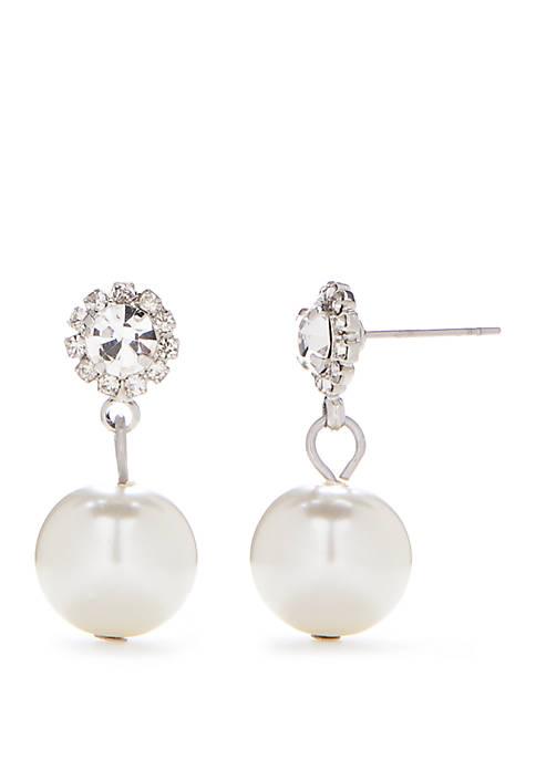 Pearl Silver Drop Earrings