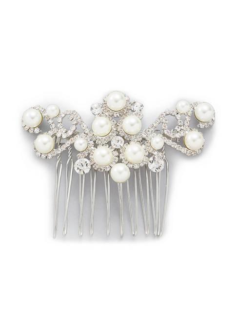 Crown & Ivy™ Pearl Hair Comb