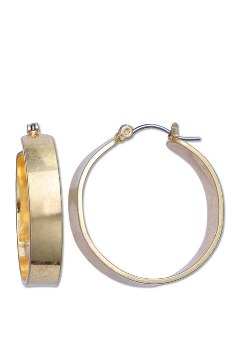 Milli by Jules B Tapered Hoop Earrings