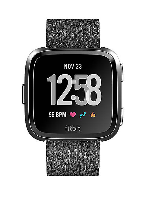 Fitbit® Versa Smartwatch Woven Charcoal