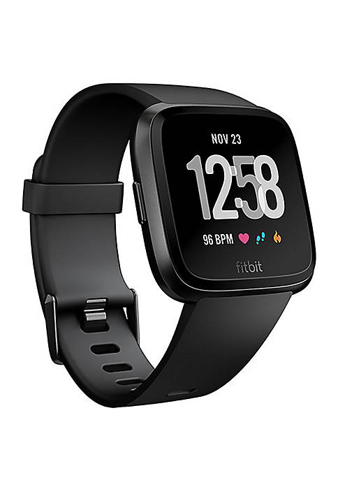Fitbit® Versa Watch in Black Aluminum