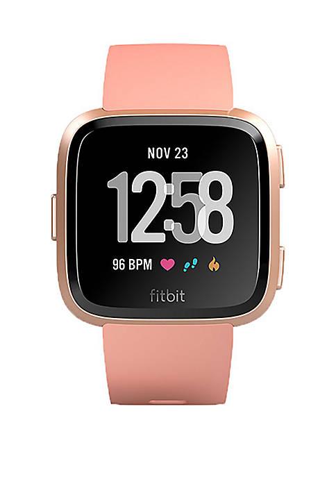 Fitbit® Versa Smartwatch Peach Rose Gold