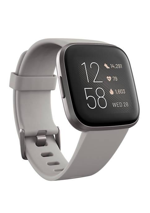 Fitbit® Versa 2 Mist Gray Elastomer Strap Touchscreen