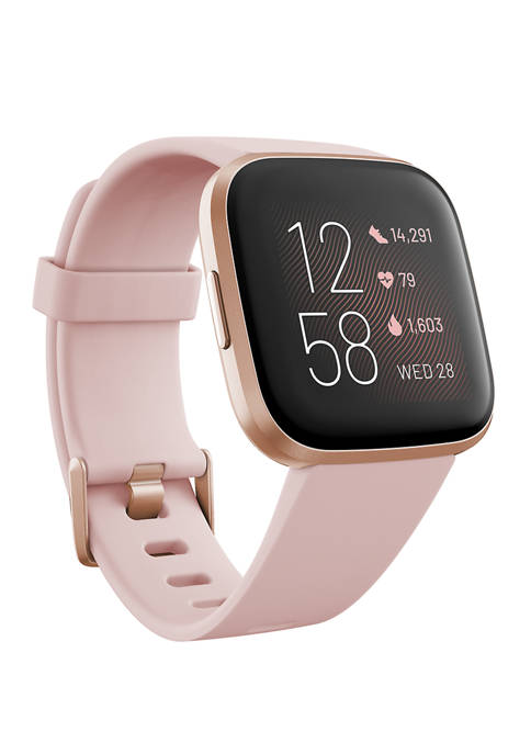 Fitbit® Versa 2 Rose Elastomer Strap Touchscreen Smartwatch