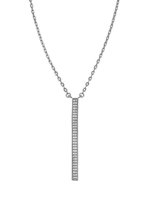Belk Silverworks Fine Silver Plated Reversible Linear Pendant