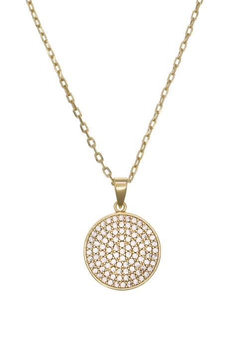Belk Silverworks Fine Silver Plated Reversible Pendant Necklace