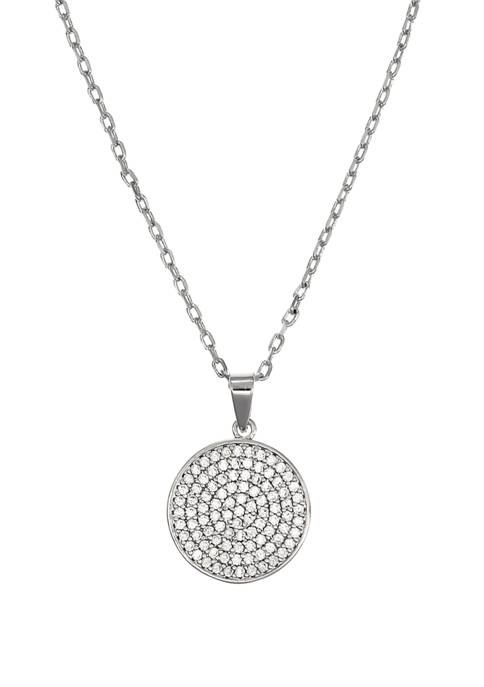 Belk Silverworks Fine Silver Plated Reversible Round Pendant
