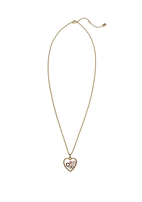 Gold Tone Fine Silver Plated Skakey Pendant Necklace