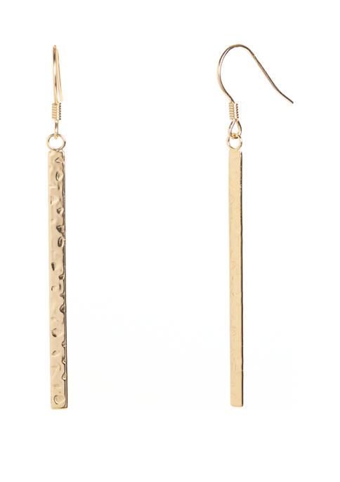 Belk Silverworks Gold Tone Sterling Silver Hammered Stick
