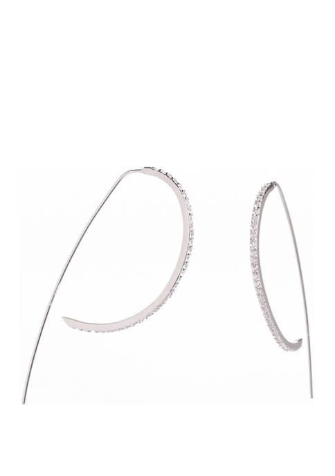 Belk Silverworks Sterling Silver Threader Hoop Earrings with