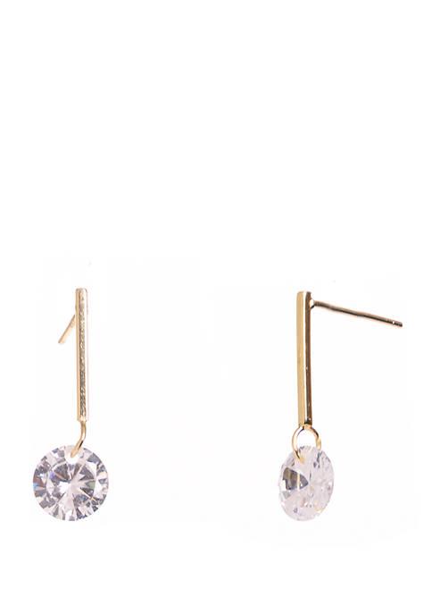 Belk Silverworks Gold Tone Sterling Silver Linear Drop